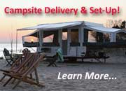 San Diego RV Rentals - Campsite Delivery & Set-Up Program