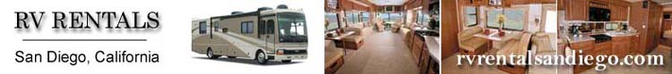 San Diego Recreational Vehicle, RV, Motorhome and Travel Trailer Rentals